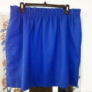 J. Crew Wool Skirt- Blue